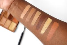 Swatches of NYX Conceal Correct Contour Palette Dark| South African Beauty Blog NYX Cosmetics South Africa #WorldOfNYX