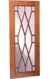 Chippendale Mullion B Shown in Tavern finish on cherry Door And Window Design, Wooden Main Door Design, Window Grill Design, Door Gate Design, Wooden Windows, Wooden Doors, Wood Mode, Mirror Makeover, Home Design Plans