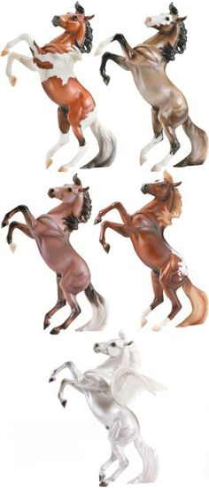"""Breyer horses on the """"Silver"""" mold (I have the 2 at the top hue and van helsing is what I named them"""