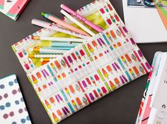 Make a no-sew pencil pouch for your back to school necessities.