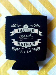 best day ever state wedding koozies custom state by rookdesignco