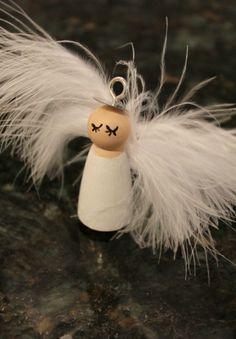 Peg Doll Angel Christmas Ornament