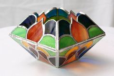 Ornamental Stained Glass Candle Holder by EtherealElegance on Etsy, $65.00