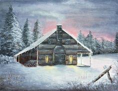 A Snowy Winter Night by Karen Leigh Studios