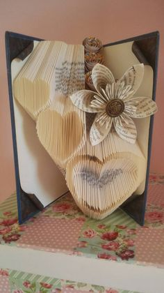 Hearts, wedding gift, love, valentine gift, engagement gift, anniversary gift, heart papercraft, folded book art hand made in Ireland
