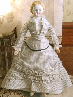 Museum Quality Antique Parian Shoulder Head Doll Original Clothing CA 1880s | eBay