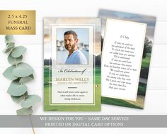Funeral Prayer Card Template, Printable Memorial Prayer Card Printable, Memorial Keepsake, Golf Theme Mass Card, Obituary Card, Remembrance