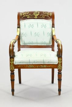 Russian Neoclassical-Style Mahogany Armchair