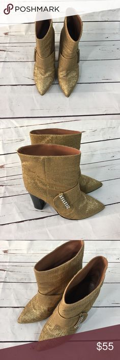 See By Chloe Gold Ankle Boots w/ Rhinestones 381/2 Gorgeous See By Chloe Gold Ankle boots. These have only been worn a couple of times. They are in excellent condition. They are Size 38 1/2. See By Chloe Shoes Ankle Boots & Booties