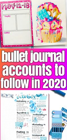 Plan to bullet journal in 2020? You need to follow these accounts to help make your bujo better. #bulletjournal #bujoinspiration #bujo #planner #journalideas #inspiration #art #diy #diyplanner Bullet Journal Tracker, Bullet Journal Contents, Bullet Journal For Beginners, Bullet Journal Monthly Spread, Bullet Journal How To Start A, Bullet Journal Layout, Bullet Journal Inspiration, Bullet Journals, Journal Ideas