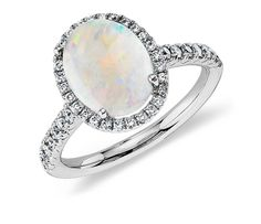 Opal and Diamond Ring | Click for your chance to win a $1000 gift card from #BlueNile!