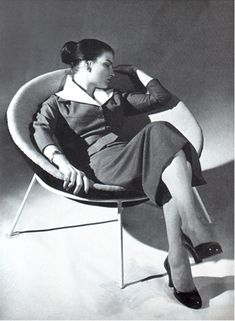 Actresss Odete Lara lounges in the Bowl Chair   ESPASSO | Space for Thought: Bowl Chair