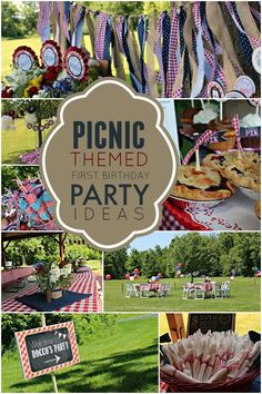Celebrating a summer birthday for someone turning one? Why not throw a picnic themed birthday party complete with themed treats and outdoor décor? Birthday Party At Park, Birthday Bbq, Summer Birthday, Boy First Birthday, Boy Birthday Parties, Birthday Ideas, Picnic Theme Birthday, Birthday Banners, Birthday Invitations
