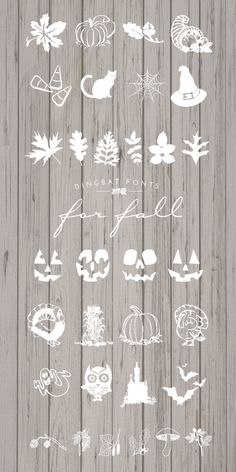 Free Dingbat Fonts for Fall | Designs By Miss Mandee