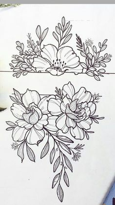 Flower band tattoo