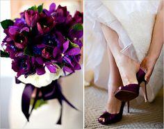 Wedding, Flowers, Purple