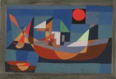 Ruehende Schiffe by Paul Klee, 1927
