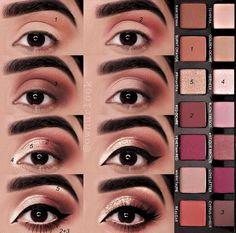 Charlotte Tilbury Luxus Make-up Sephora Huda Schönheit Natasha Denona Kyli Eye Makeup Steps, Makeup Eye Looks, Skin Makeup, Eyeshadow Makeup, Contouring Makeup, Golden Eyeshadow, Eyeshadow Palette, Eyebrow Makeup, Eyeshadows
