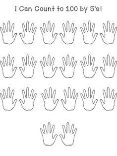 5 fingers on each hand makes a perfect skip counting tool. After introducing and practicing counting by 5's, have students count by 5's numbering inside the hands and glue in their math journal for an easy assessment! Thanks for downloading!