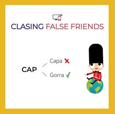 No te confundas CAP no significa capa es gorra!   #falsefriends #aprendeingles #englishlesson #aprenderinglés #learnenglish English Tips, Learn English, English Grammar, Teaching English, Learning Spanish, Spanish Games, False Friends, Spanish Vocabulary, Writing Words