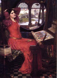 John William Waterhouse - I am half-sick of shadows, said the lady of shalott (1916)