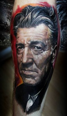 This color portrait by Ivan Yug looks like an oil painting Top Tattoos, Great Tattoos, Body Art Tattoos, Portrait Tattoos, Tatoos, Random Tattoos, Awesome Tattoos, Tattoo Studio, Picture Tattoos