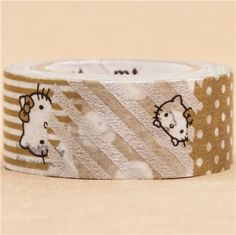 Hello Kitty gold silver metallic mt Washi Masking Tape deco tape 2