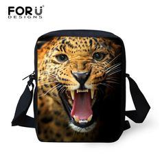 New Brand Designers Men Messenger Bags 3D Zoo Animals Wolf Printed Male Shoulder Bags Cool Pet Dog Husky Cross Body Bags For Boy
