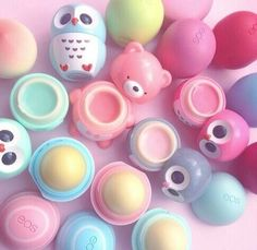 So kawaii!!! Super cute and color lip balms (what r those called? egg balm?) In the shape of beats and owls