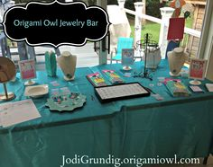 An Origami Owl jewelry bar.
