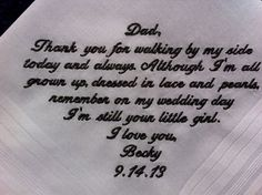 Father of the Bride Handkerchief from Bride with by CannStitch, $30.00