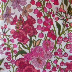 Edna in Pink Liberty of London tana lawn fabric Fat Quarter fq