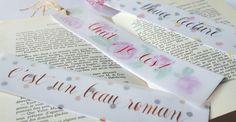 Créez de beaux marque-pages calligraphiés pour la Fête des Mères- Tuto