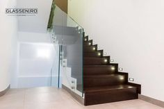 Balustradă de sticlă securizată Glass Railing, Glass Design, Stairs, Home Decor, Stairway, Decoration Home, Room Decor, Staircases, Home Interior Design
