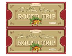 Polar Express Tickets FRONTS 2UP 8.5x11 by KSE Graphics, via Flickr