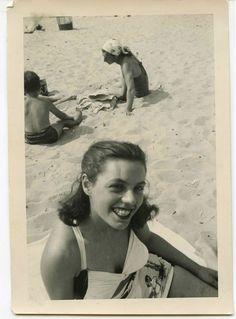 vintage beach snapshot, great smile