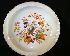 50% OFF Exquisite Limoges Porcelain Master Serving Bowl ~ Factory Decorated with Birds & Fruit ~ Bawo & Dotter Limoges France 1870-1889