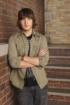"Scott Michael Foster as Cappie from ABC Family's ""Greek"""
