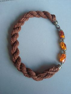 Handcrochetted necklace