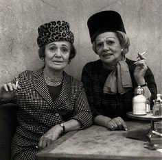 "Diane Arbus ""Two Ladies at the Automat"" (Saw at Art Institute Chicago) (please follow minkshmink on pinterest)"
