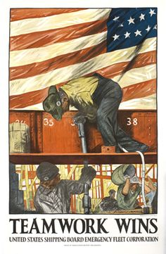 Kline, Hibberd  V.B. poster: Teamwork Wins, 1918