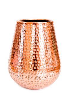 Copper textured vase