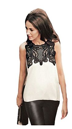 EJY Frauen ärmellos Stickerei-Spitze-Oberseiten-Hemd-Bluse Chiffon- Irregular (S) EJY http://www.amazon.de/dp/B00YIPGKXO/ref=cm_sw_r_pi_dp_N5RRvb0KSNGGA