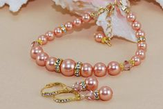 Bridal Jewelry Pearl Set 14k Gold Filled by ornatetreasures, $79.00