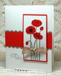 Stamps:  SU Pleasant Poppies, Petite Pairs