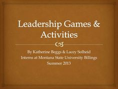 While working as interns, we were tasked with the project of collecting different leadership games to be used for a leadership camp of high school students.