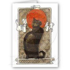 Black Cat - Art Nouveau  by Theophile Steinlen