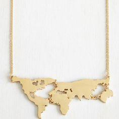 Spotted while shopping on Poshmark: World Map Necklace! #poshmark #fashion #shopping #style #Jewelry