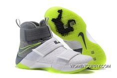 36667f77e4879 Nike Zoom LeBron Soldier 10 Dunkman White Cool Grey-Electric Green Cheap To  Buy