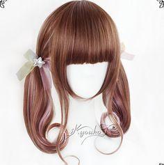 "Top Cute Kawaii Sweet Fashion Clothing & Accessories Online Store.  Coupon ""cutekawaii"" for all 10% off.  Via:www.sanrense.com Harajuku cute kawaii gradients wig"
